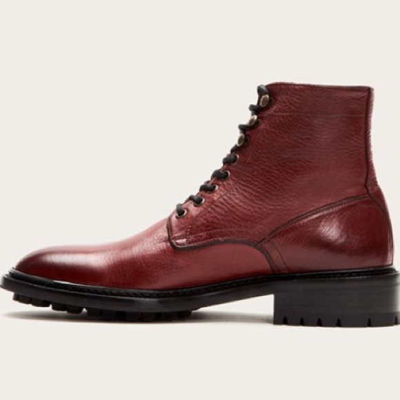 NIB FRYE Men/'s Greyson Combat Boot Made In Italy size 10.5 M $428 Cognac Lace up